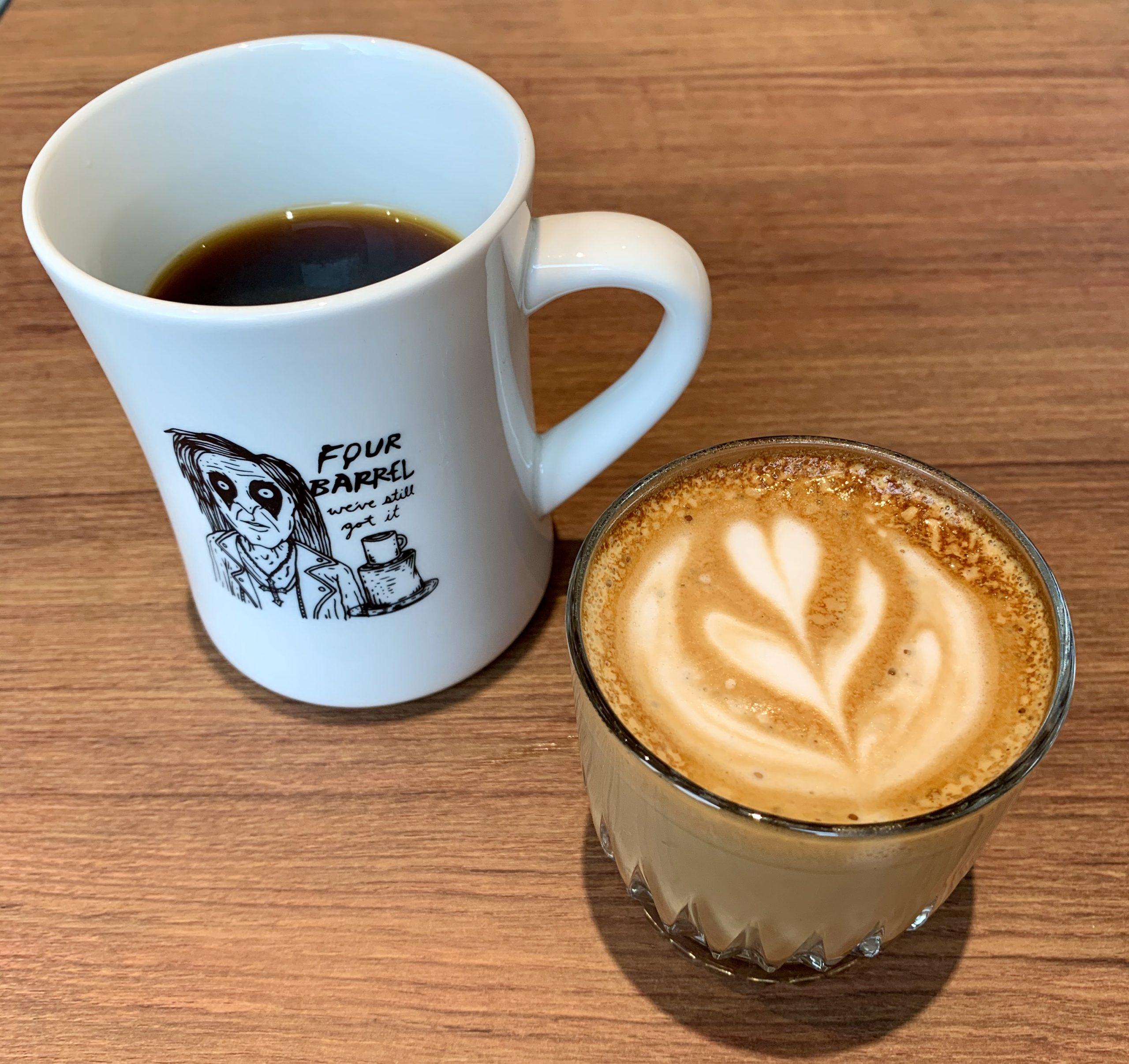 四桶咖啡手沖、短笛咖啡